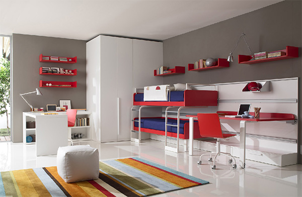 Image of: Modern Kids Bedroom Furniture Apartment