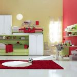 Red Modern Kids Bedroom Furniture