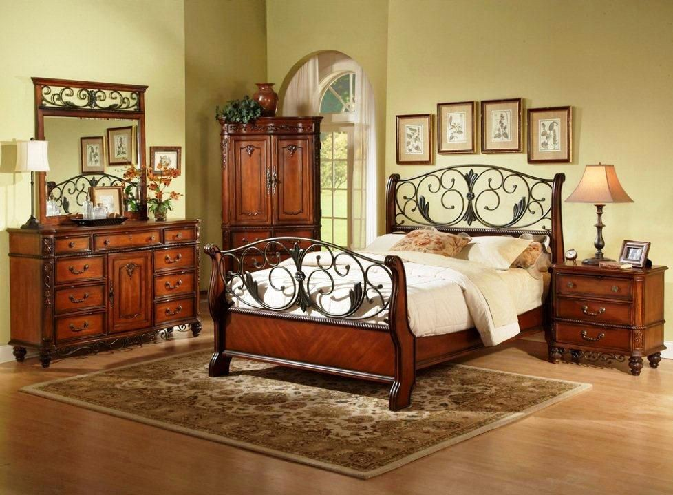 Image of: tuscan bedroom furniture design
