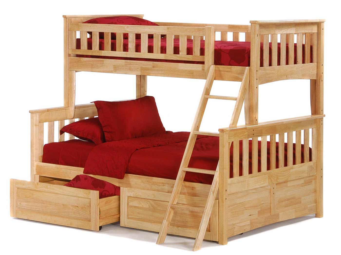 Image of: Adult Bunk Beds Red