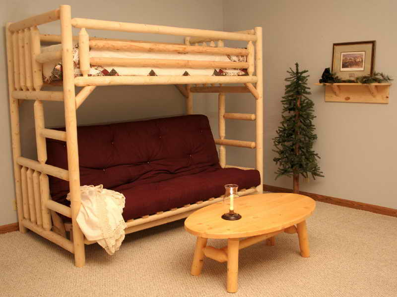 Image of: Amazing couch bunk beds