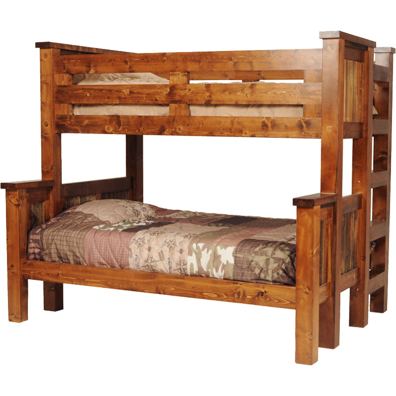 Image of: Antique wood bunk beds