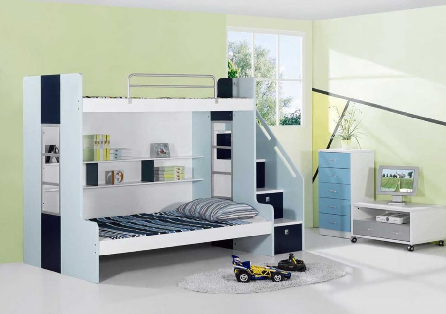 Image of: Awasome Bunk Bed with Stairs