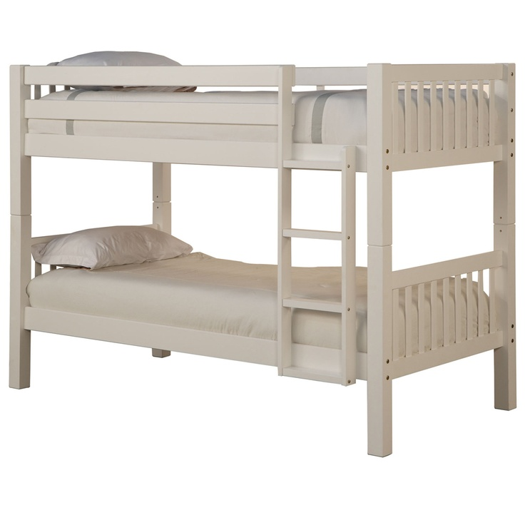 Image of: Basic White Bunk Bed