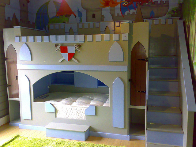Image of: Beautiful Castle Bunk Bed