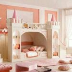 Beautiful Pincess Bunk Bed with Slide