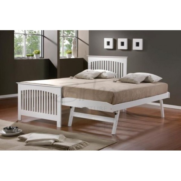 Birlea Toronto White Guest bed and Trundle