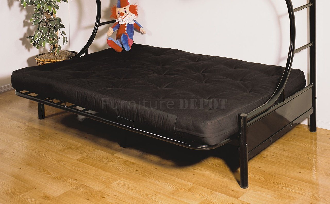 Image of: Black Futon Bunk Beds