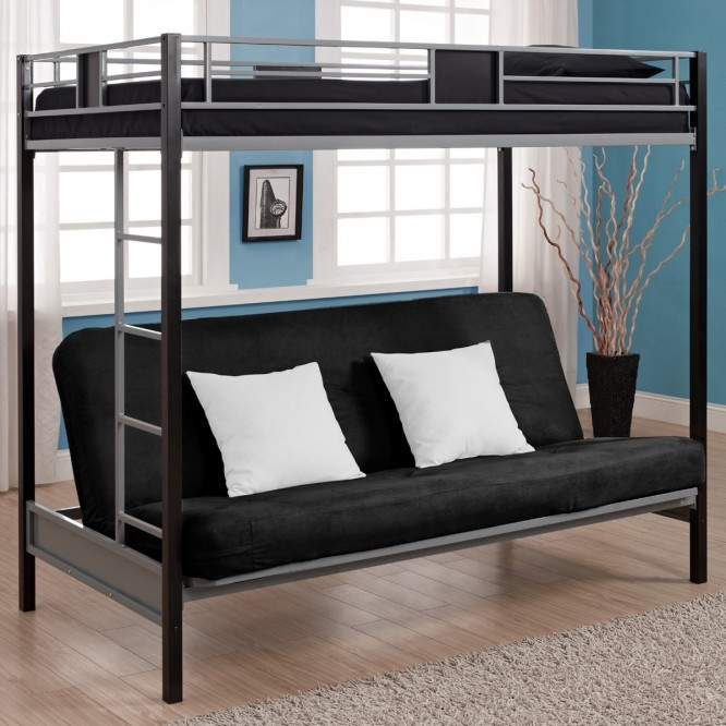Image of: Black sofa bunk bed