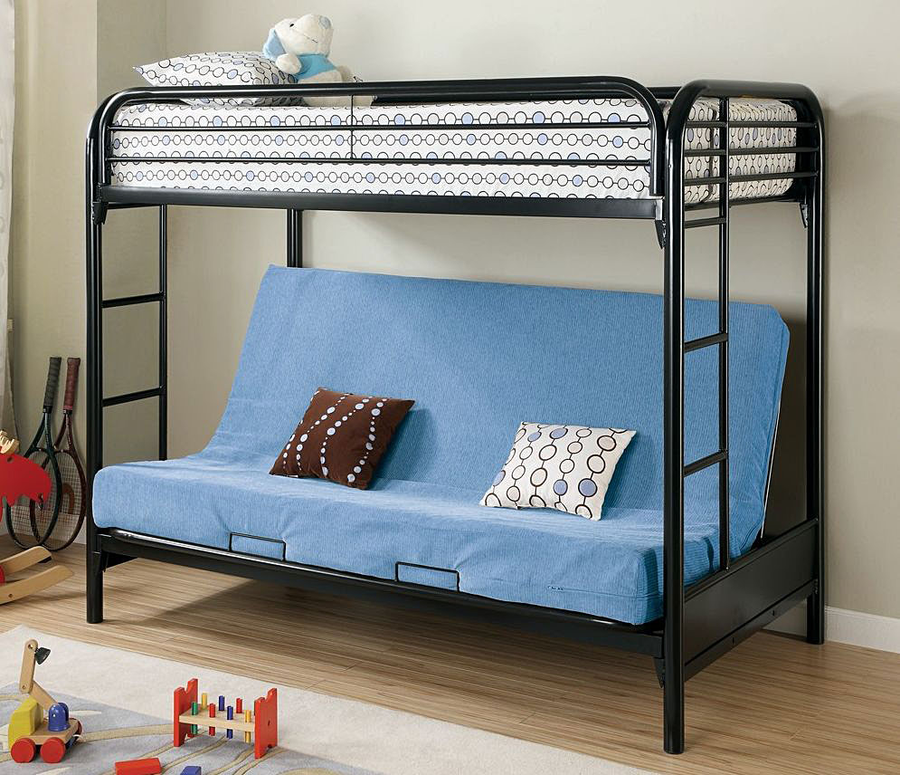 Blue Futon Bunk Beds