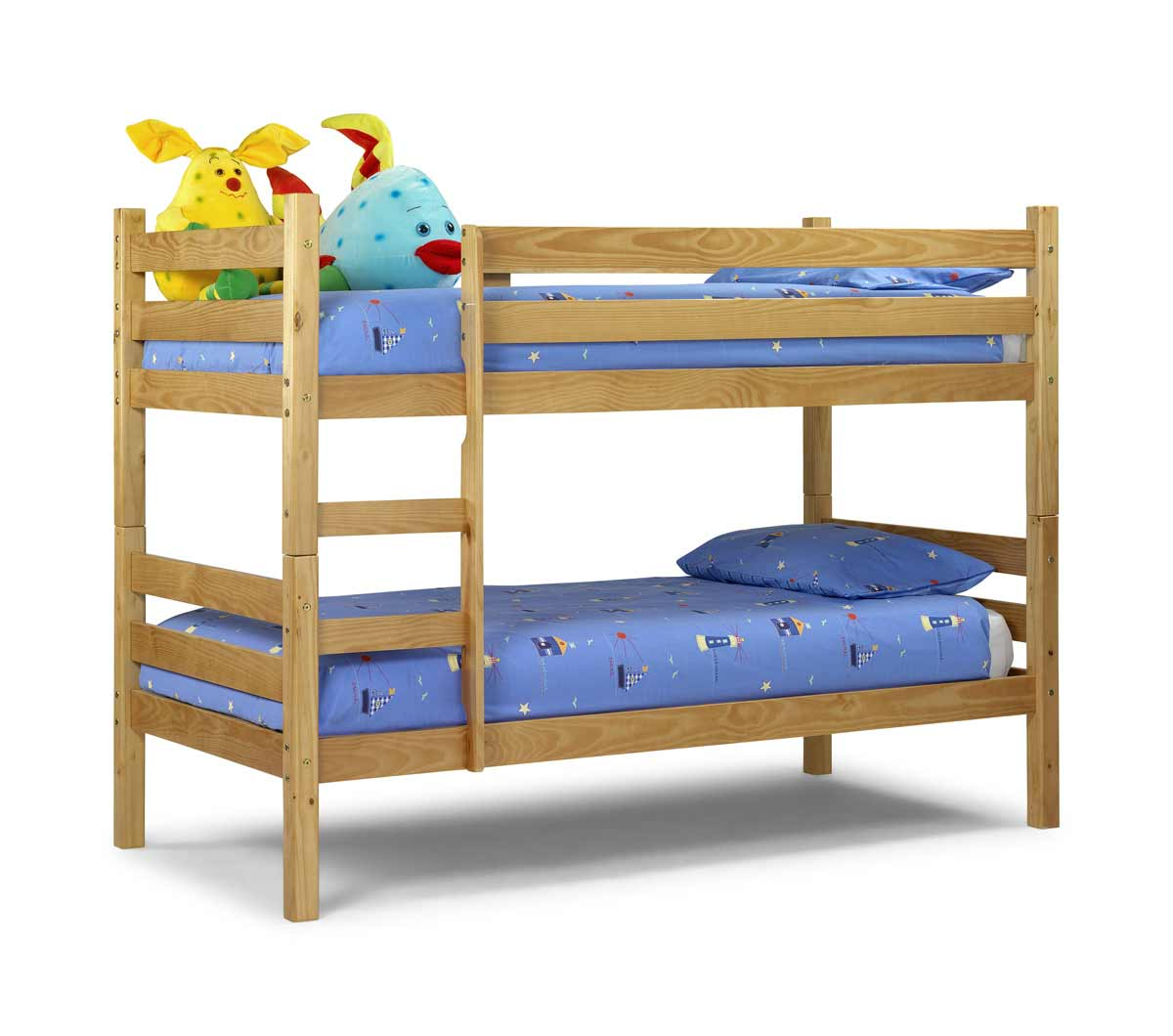Image of: Blue Wooden Bunk Beds