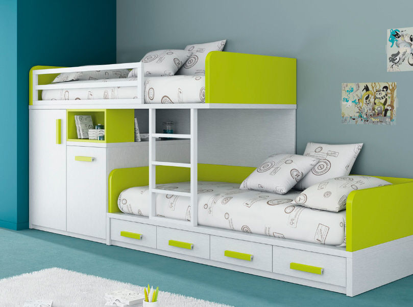Image of: Boys Bunk Beds With Storage