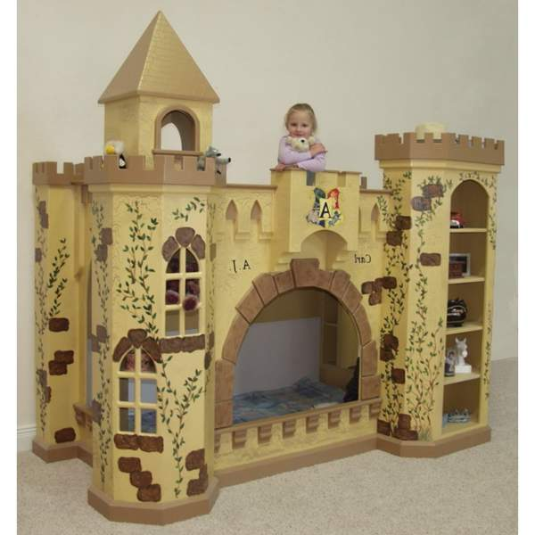 Image of: Brown Castle Bunk Bed
