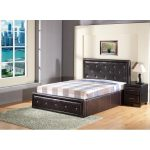 Brown storage bed frame