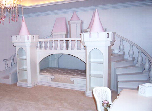Image of: Castle Bunk Bed Kids
