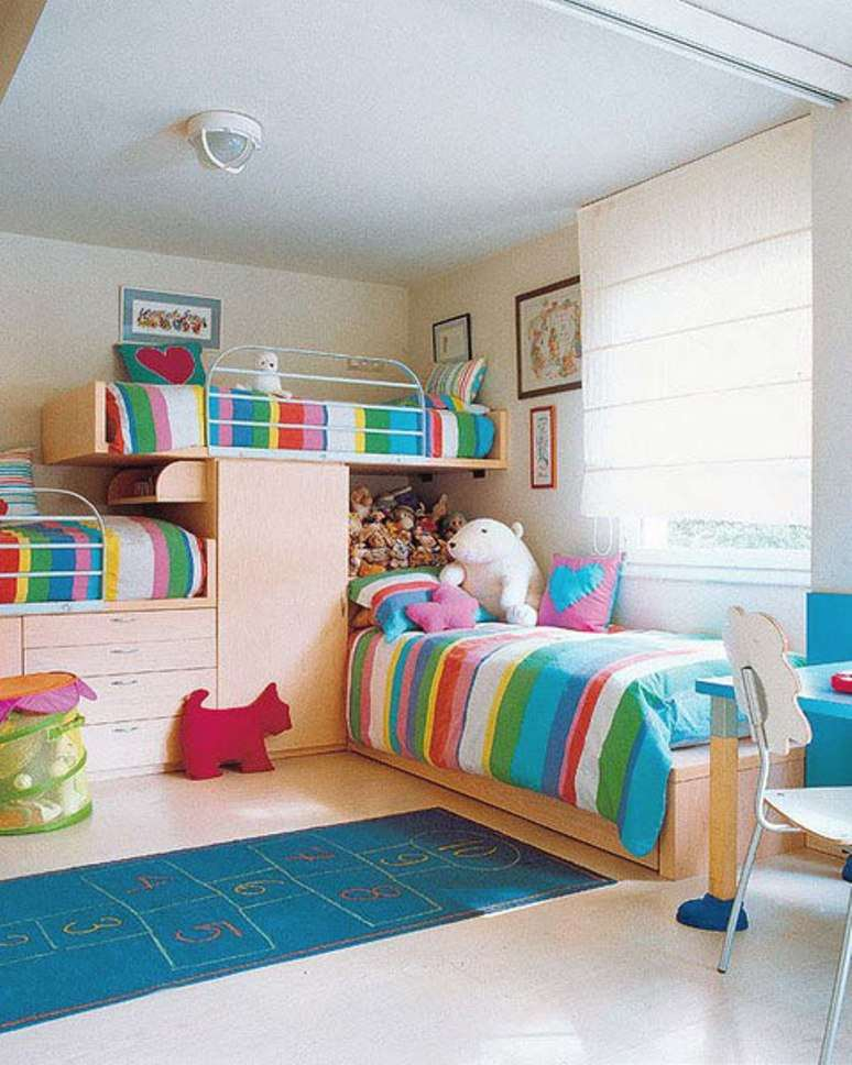 Image of: Colorful Bunk Bed Ideas