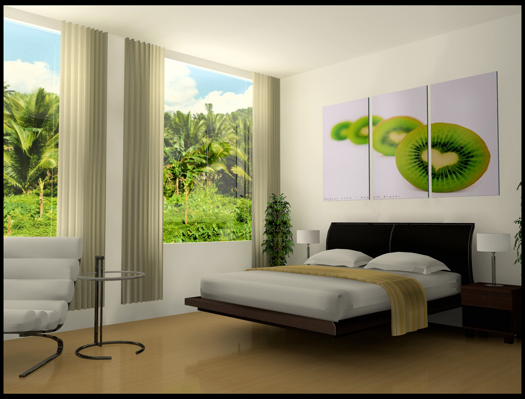 Image of: Colorful bedroom design