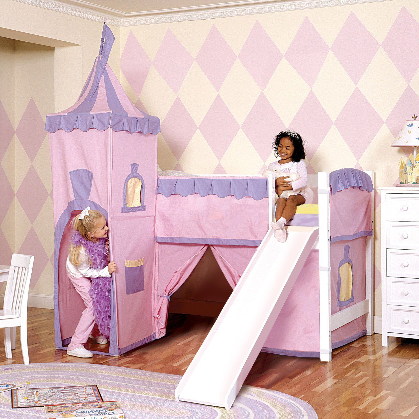 Image of: Comfort Bunk Bed with Slide