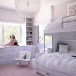 Contemporary bunk beds for girls