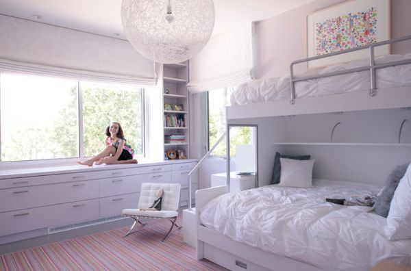 Image of: Contemporary girl bunk beds