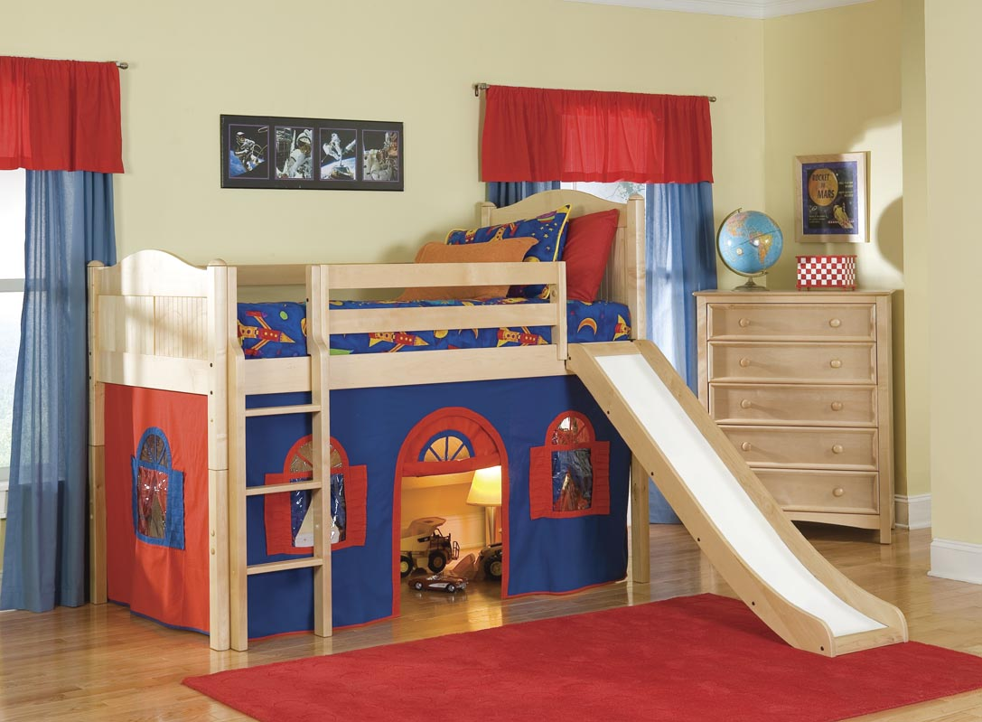 Image of: Cool Bunk Bed with Slide