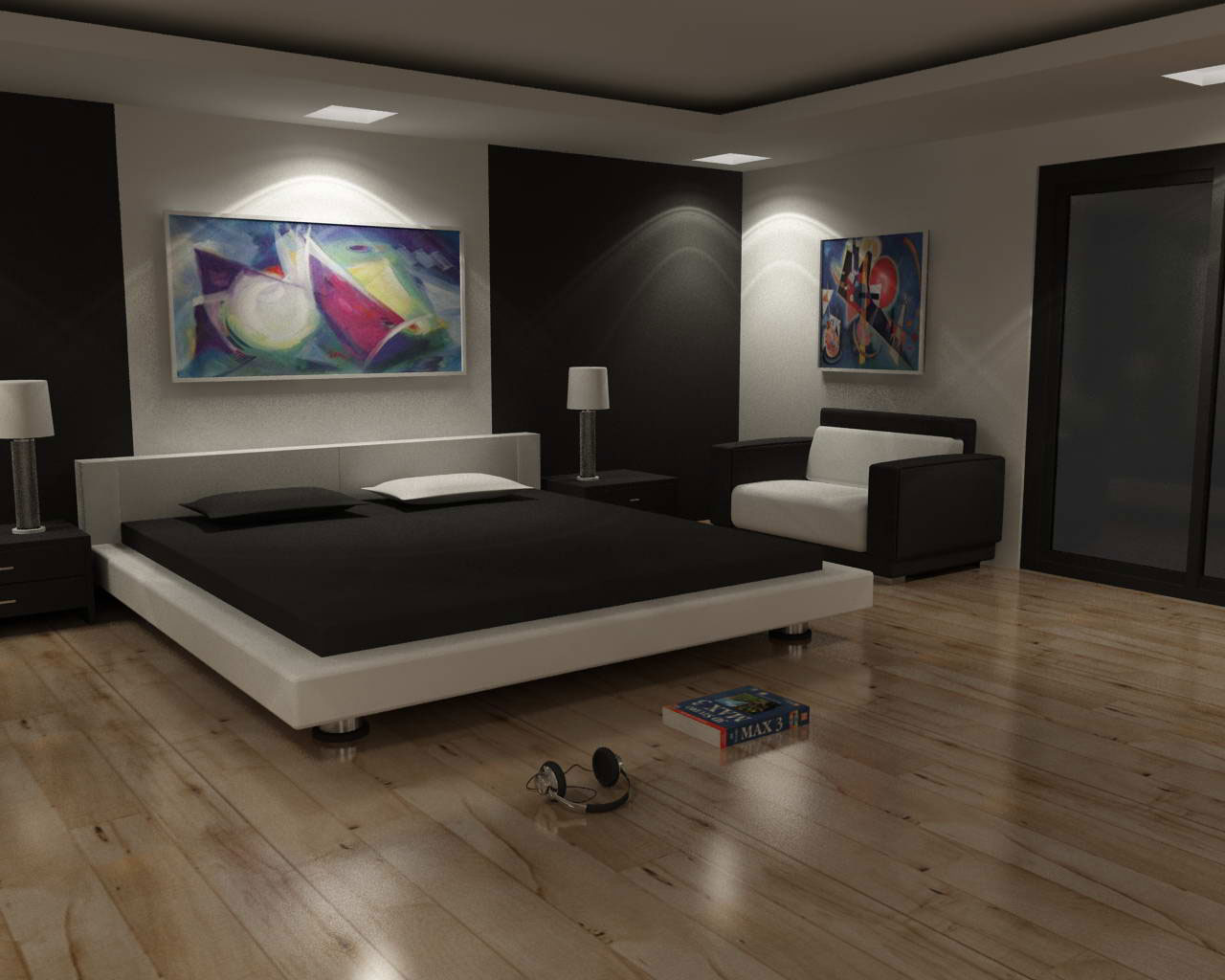 Image of: Cool bedroom design