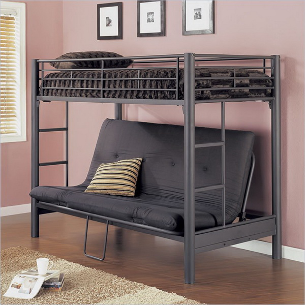 Image of: Cool couch bunk beds