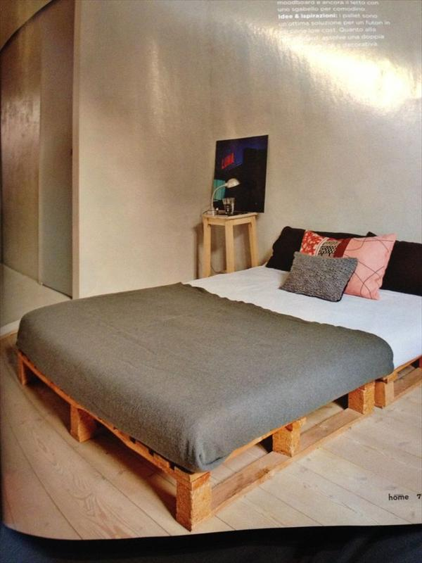 Image of: DIY Pallet Bed Frame Ideas