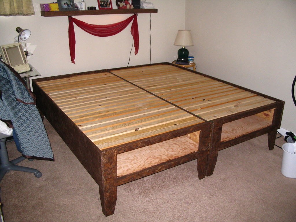 Image of: Diy Bed Frame With Storage
