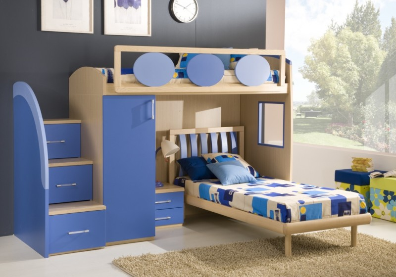 Image of: Double Loft Bunk Beds for Boy