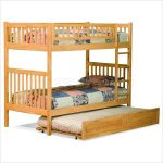 Full bunk bed with trundle panel