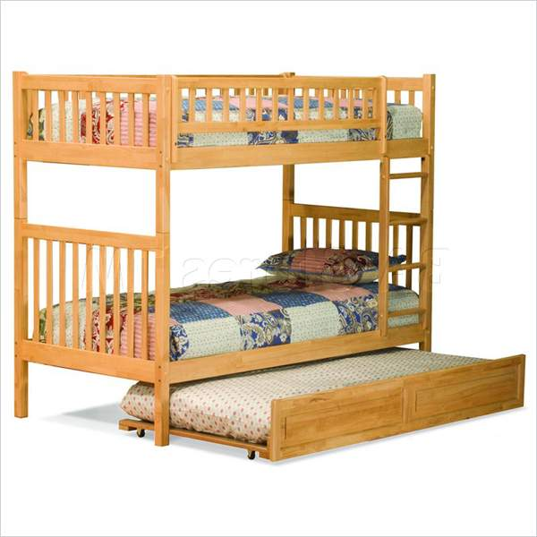 Image of: Full bunk bed with trundle panel