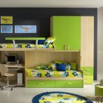 Green Double Loft Bunk Beds for Boy