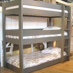 Grey triple bunk bed