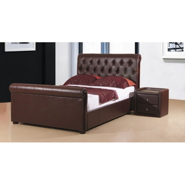 Image of: Heartlands Caxton Faux Leather Storage Bed