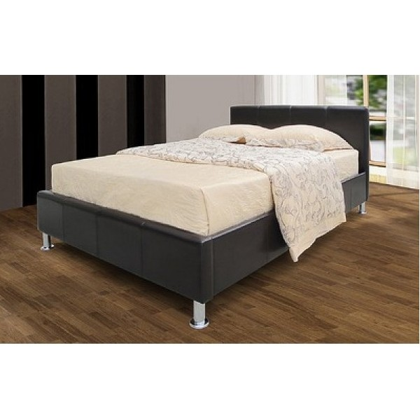 Image of: Heartlands Kenneth Faux Leather Storage Bed Frame