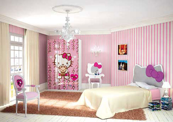 Image of: Hello Kitty Bedroom furniture set for your daughter