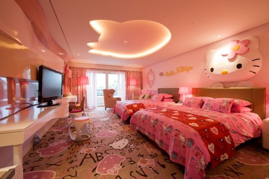 Image of: Hello Kitty Bedroom Furniture Beautiful