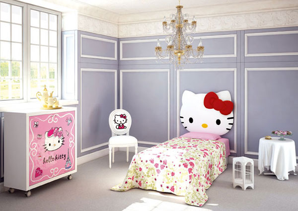 Image of: Cute Hello Kitty Bedroom Furniture