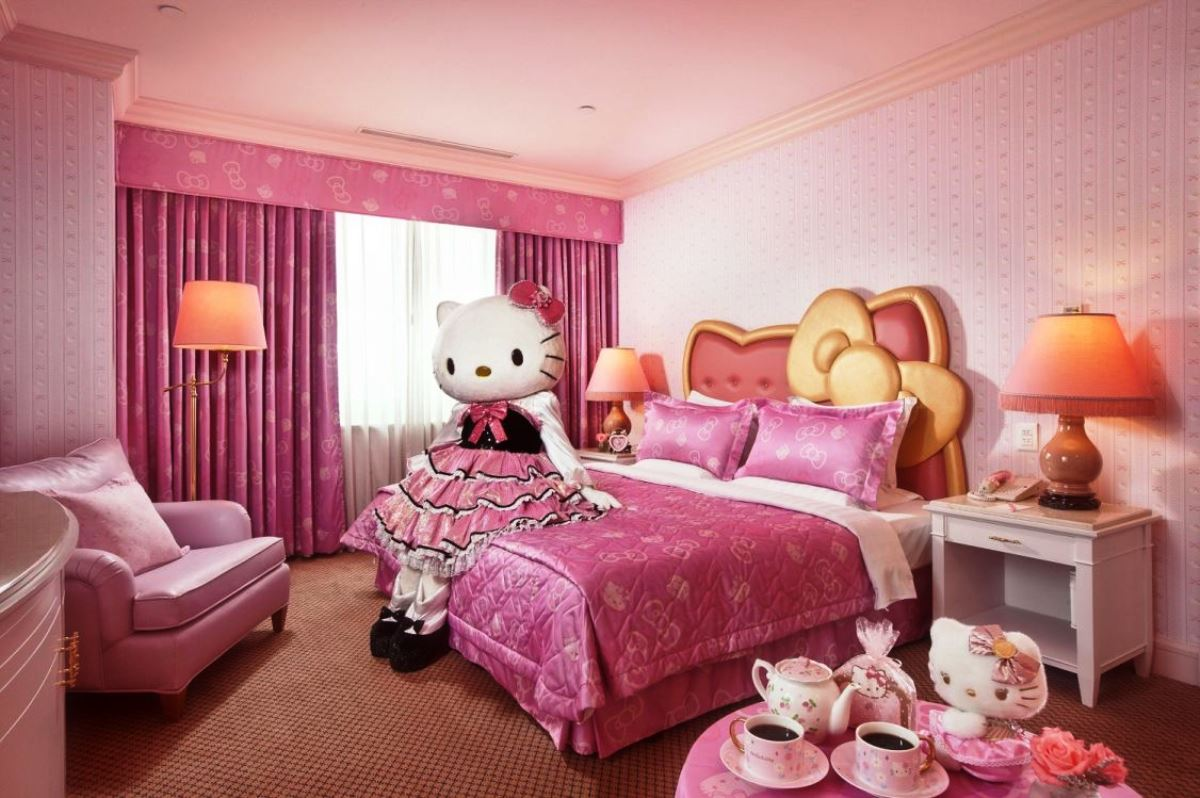 Image of: Hello Kitty Bedroom furniture Unique
