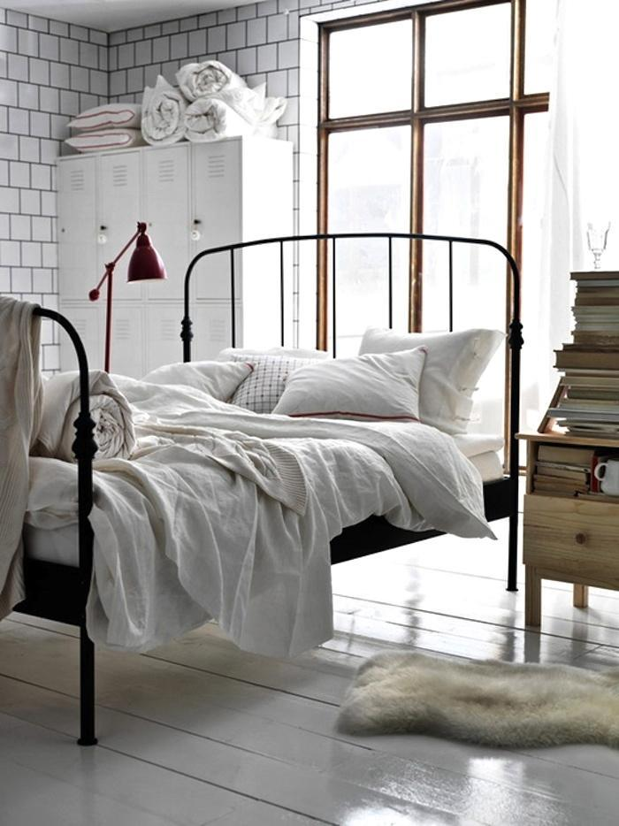 Image of: IKEA Full Size Metal Bed Frame