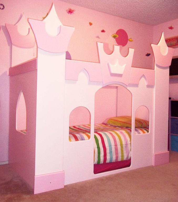 Image of: Image of Pincess Bunk Bed