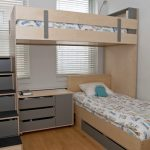 L Shaped bunk beds for small rooms