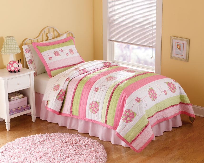 Image of: Ladybug in Twin Bedding Sets for Girls