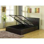 Leather storage bed frame