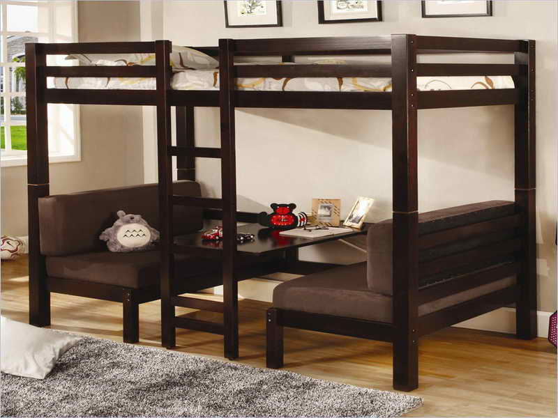 Image of: Loft couch bunk beds
