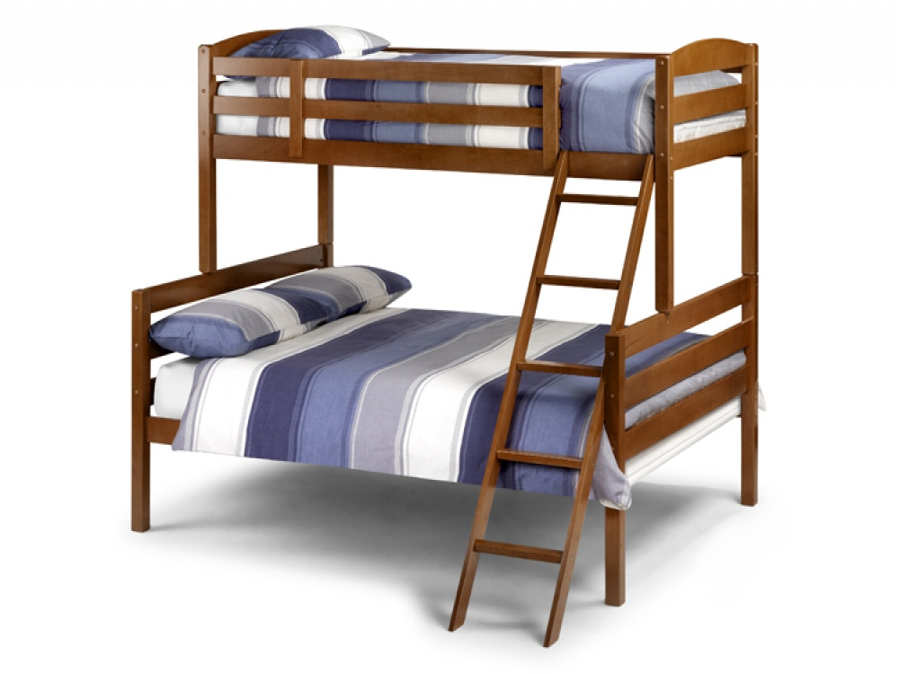 Image of: Maple triple bunk bed