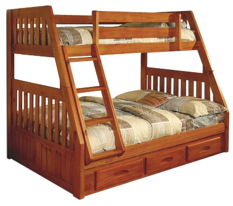 Image of: Master wood bunk beds