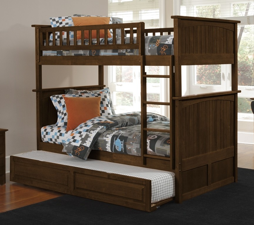 Image of: Metal Bunk Bed With Trundle Bunk