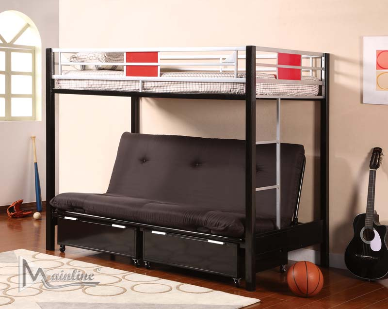 Image of: Metal Futon Bunk Beds